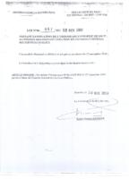 Loi 067 et décret 152 cadre organique